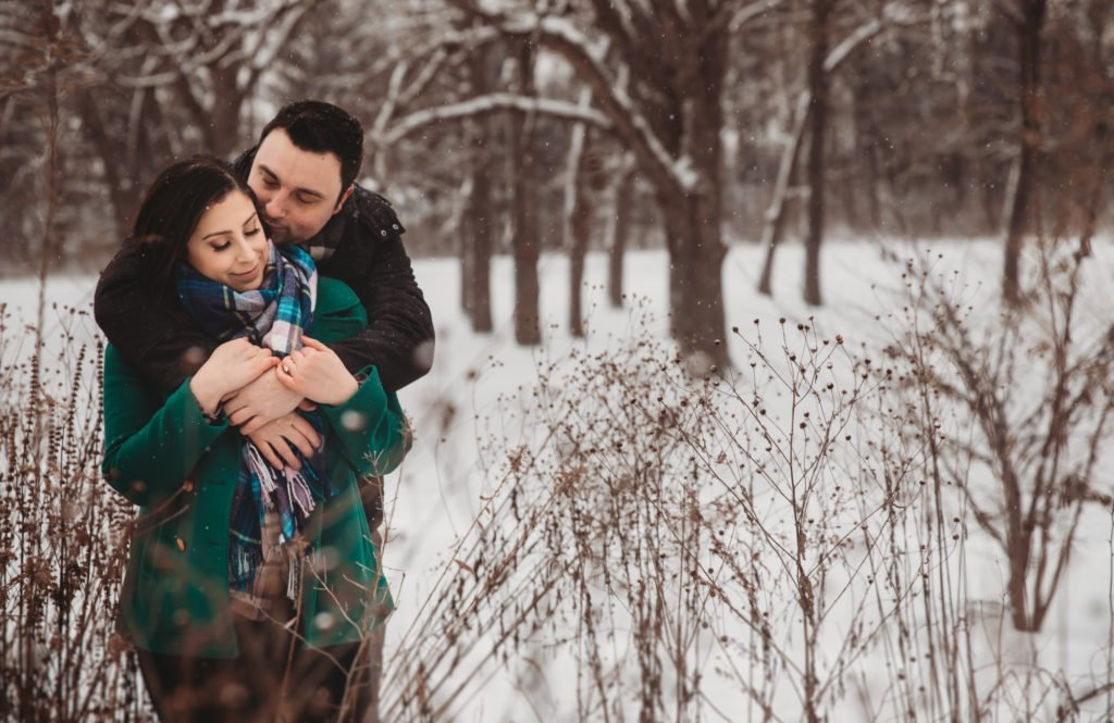 engagement session Farm engagement session engagement ring winter engagement photography