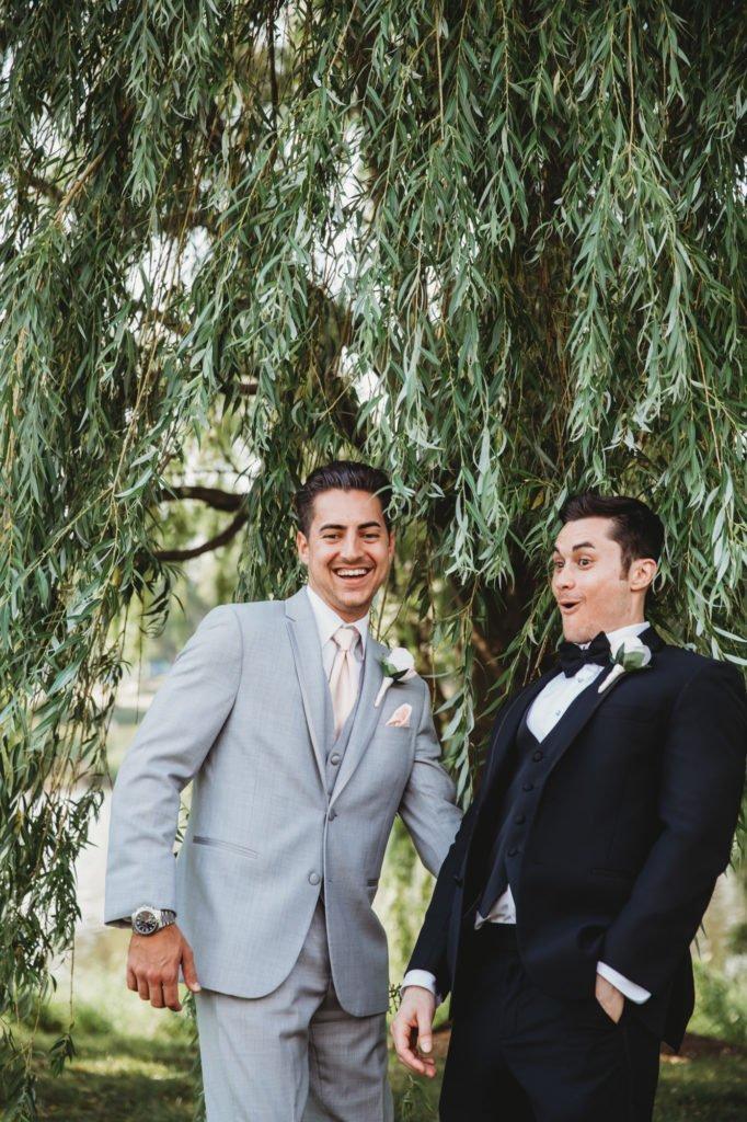 groom groomsman silly moment